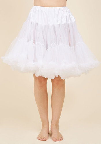 Vintage Inspired Lingerie Va Va Voluminous Petticoat in White - Short $52.99 AT vintagedancer.com