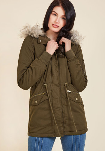 Outdoors Enthusiast Coat in Olive