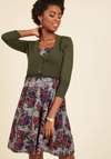 Dream of the Crop Cardigan in Moss