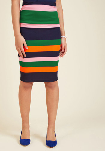 1960s Style Skirts Foretold of Bold Pencil Skirt $29.99 AT vintagedancer.com