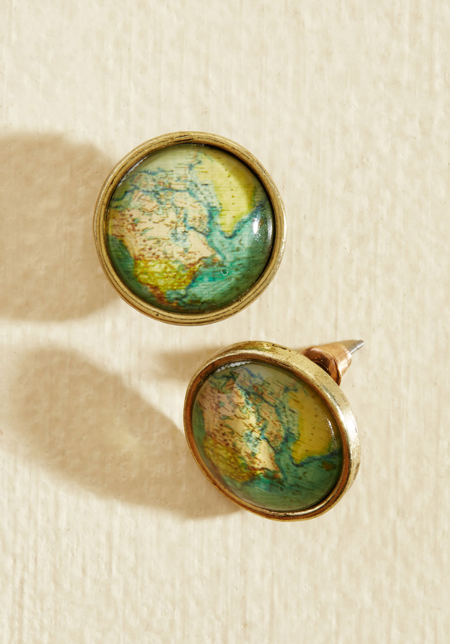 Map Out of It! Earrings
