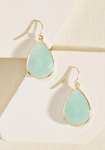 Receiving Drop Honors Earrings in Sky - Blue, Solid, Variation, Spring, Best Seller, Best Seller