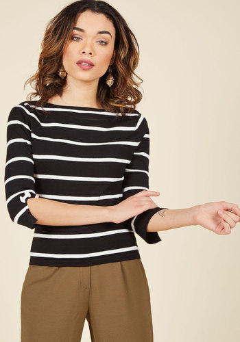 Up to Parisienne Sweater in Striped Black