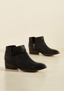 Snare Leather Bootie in Black