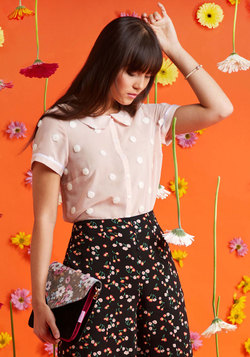 Let's Do Lovely Button-Up Top in Puff