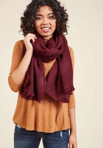 Moxie at the Movies Scarf in Merlot - Red, Work, Fall, Woven, Better, Casual, Travel, Rustic, Scholastic/Collegiate, Winter, Tis the Season Sale