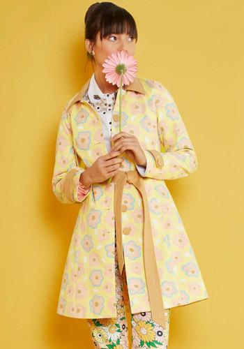 Retro Vintage Style Coats, Jackets, Fur Stoles Delightful Direction Coat $99.99 AT vintagedancer.com