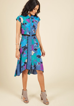 Expertly Eclectic Shirt Dress