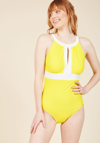 1960s Style Swimsuits Toes in the Sand One-Piece Swimsuit $99.99 AT vintagedancer.com