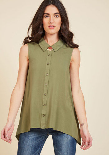 Supported Scientist Sleeveless Top in Thyme