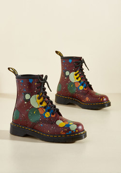 March Through Manhattan Leather Boot in Splatter