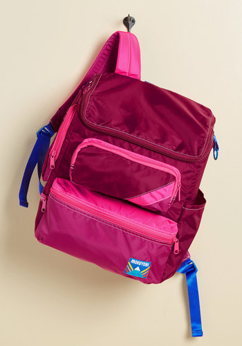Cargo Get 'Em Backpack by Mokuyobi - Red, Pink, Solid, Pockets, Casual, Travel, Scholastic/Collegiate, Winter, Exceptional, Beach/Resort
