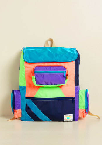 Courageous Navigation Backpack by Mokuyobi - Multi, Solid, Pockets, Casual, Travel, Neon, Colorblocking, Winter, Exceptional, Festival, Scholastic/Collegiate, Beach/Resort, Spring