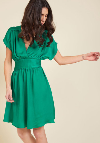Applauded Accomplishments A-Line Dress in Clover