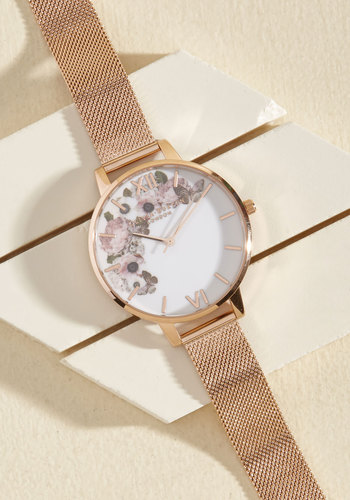 Perfection Per Diem Watch - Big by Olivia Burton - Luxe Gifts, Gold, Gold, Floral, Work, Spring