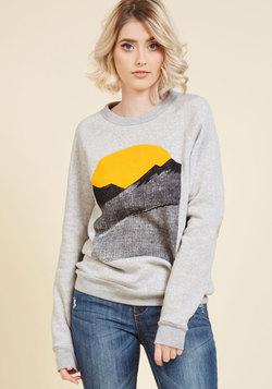 Alpine Shine Sweatshirt in Ecru