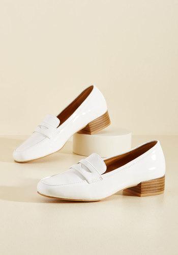 Retro Vintage Flats and Low Heel Shoes Remarkably Retro Vegan Loafer $49.99 AT vintagedancer.com