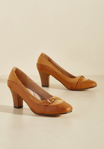 1960s Style Shoes Start on a Keynote Heel in Tan $39.99 AT vintagedancer.com