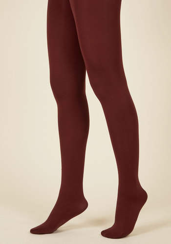 Accent Your Ensemble Tights in Merlot - Red, Work, Casual, Saturated