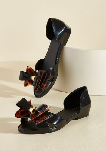 A Real Bow-Getter Peep Toe Flats