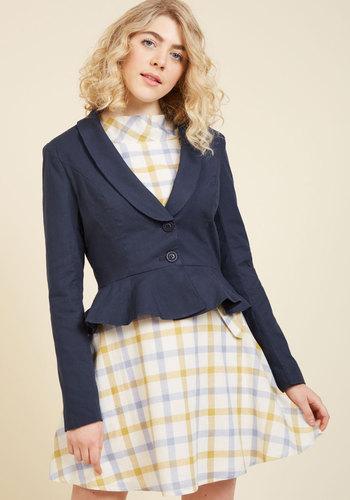 1950s Style Coats and Jackets Vocation Qualification Blazer $79.99 AT vintagedancer.com