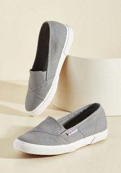 It's a Longboard Story Slip-On Sneaker in Grey