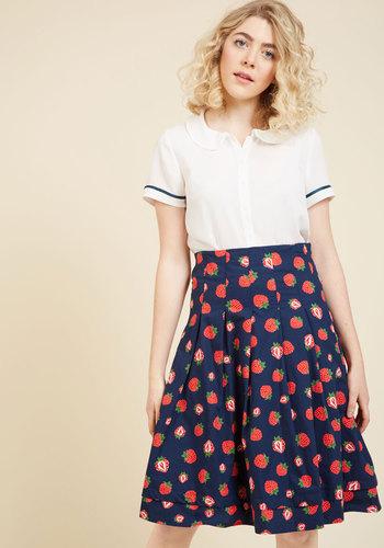 1940s Style Skirts Midi Skirt $69.99 AT vintagedancer.com