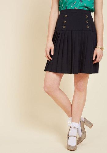 Retro Skirts: Vintage, Pencil, Circle, & Plus Sizes Dapper Hereafter A-Line Skirt $64.99 AT vintagedancer.com