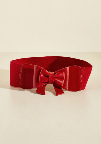 Bow, Baby! Belt in Ruby
