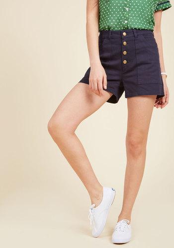 Retro Shorts, Vintage Shorts, Capri Versatile Vision Shorts in Navy $44.99 AT vintagedancer.com