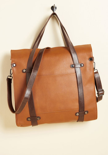 Camp Director Tote in Caramel - Brown, Work, Casual, Nifty Nerd, Fall, Better, Minimal, Variation