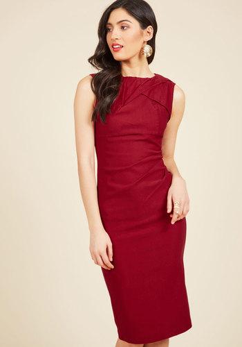1960s Style Dresses- Retro Inspired Fashion A Portrait of Poise Sheath Dress $89.99 AT vintagedancer.com