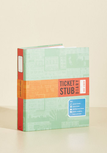 Ticket Stub Diary by Chronicle Books - Travel, Good, Best Seller, WPI, Top Rated, Gifts2015, Store 2, Pop Culture Gifts, Unisex Gifts, Under 25 Gifts, Unique Gifts