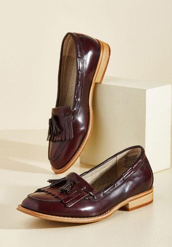 1940s Womens Shoe Styles Harbingers Luck Loafer $59.99 AT vintagedancer.com
