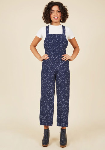 1940s Style Pants & Overalls- Wide Leg, High Waist No Space Like Home Jumpsuit $129.99 AT vintagedancer.com