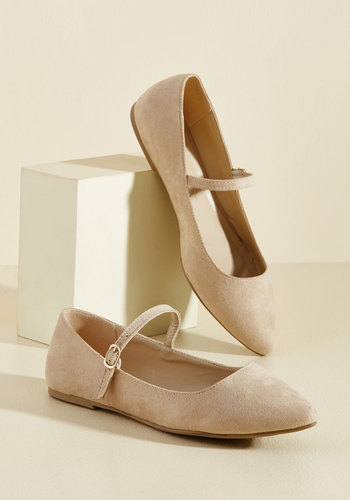 All You've Ever Jaunted Mary Jane Flat in Beige