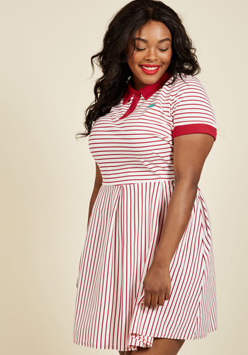 Plus Size Retro Dresses Cultivated Quirk Shirt Dress $79.99 AT vintagedancer.com