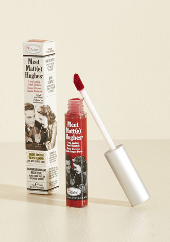 In No Time Matte Liquid Lipstick in Dark Red by theBalm - Gals, Gifts2015, Red, Special Occasion, Cocktail, Girls Night Out, Variation, Store 1