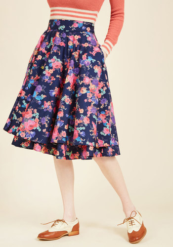 1950s Skirts for Sale: Poodle, Pencil, and Circle Skirts Essence of Elan Midi Skirt $69.99 AT vintagedancer.com