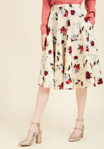 1950s Skirts for Sale: Poodle, Pencil, and Circle Skirts Perfectly Put Together Midi Skirt $59.99 AT vintagedancer.com