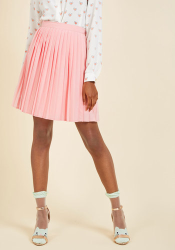 1960s Style Skirts Pleats as Punch A-Line Skirt in Pink $49.99 AT vintagedancer.com