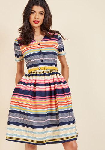 1960s Style Dresses- Retro Inspired Fashion Captivate in Color Shirt Dress $99.99 AT vintagedancer.com