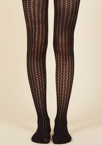Steampunk Tights  & Socks The Strong Silent Stripe Tights in Black $12.99 AT vintagedancer.com