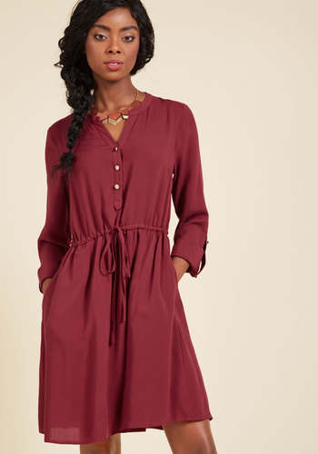 Kheer to Join Us Shirt Dress in Masala