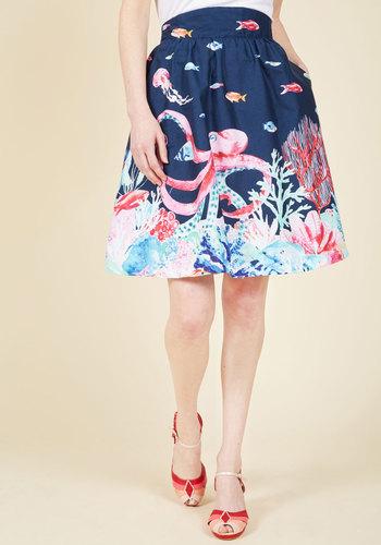 Style Study A-Line Skirt in Marine Bio