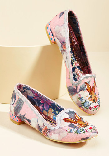 1950s Style Shoes Hare She Goes Again Loafer $108.99 AT vintagedancer.com