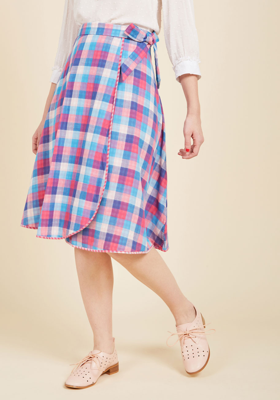 1960s Style Skirts Wrapped in Imagination Reversible Skirt $69.99 AT vintagedancer.com