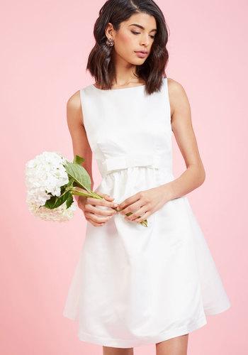 Vintage Inspired Wedding Dresses Sunlit Ceremony A-Line Dress in White $175.00 AT vintagedancer.com